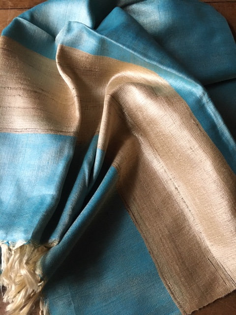 Raw silk stole from Orissa