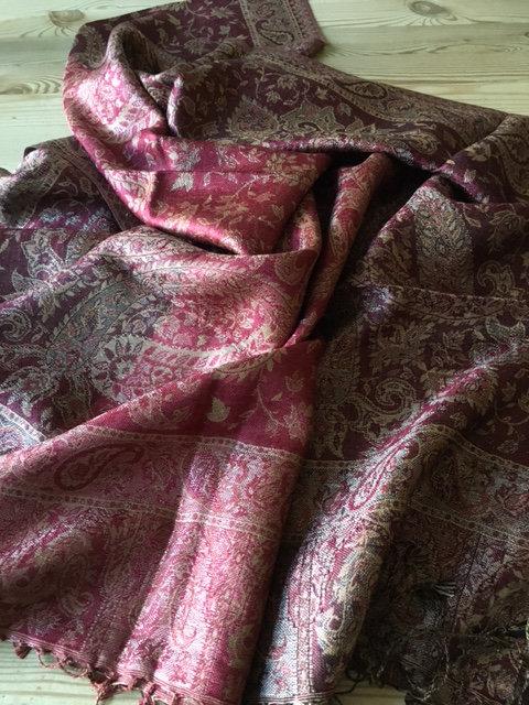 Silk jacquard stole