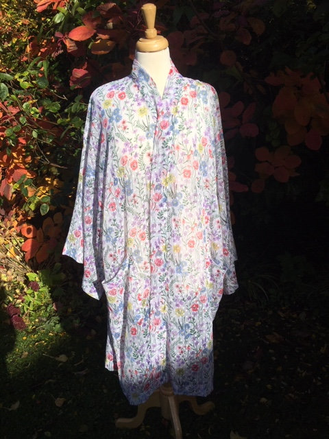 Cotton voile dressing gown