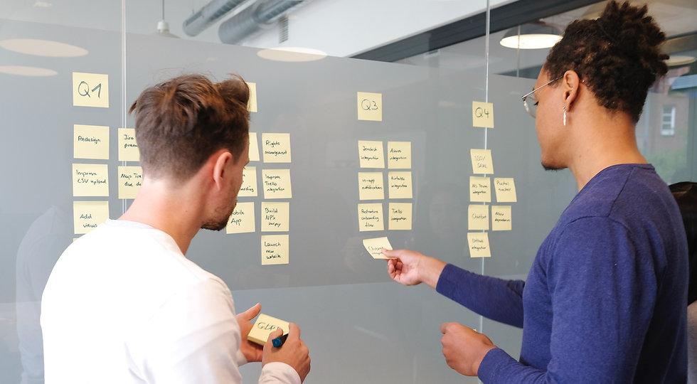 Planning ahead through a kanban roadmap. Roadmap prioritization and planning_edited.jpg