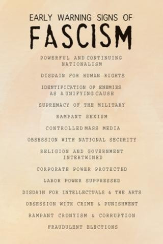 14 signs of fascism