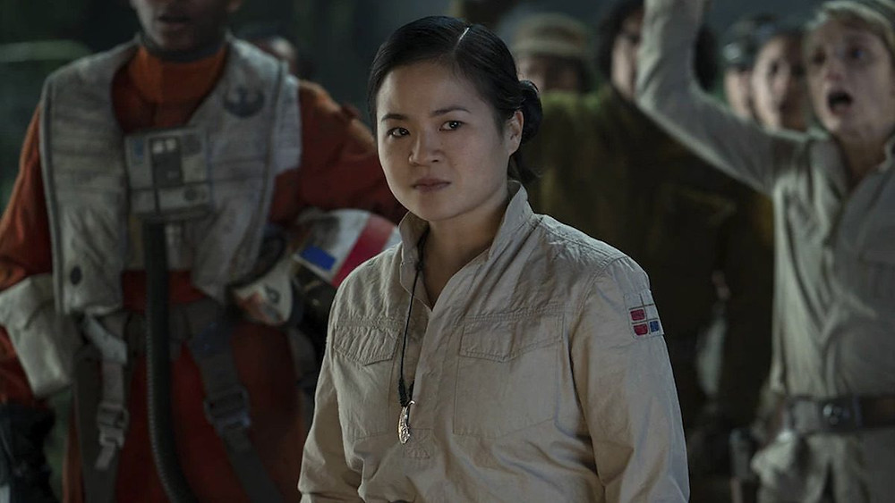 Rose Tico frowns as the rest of the plot happens, a microcosm for modern Star Wars