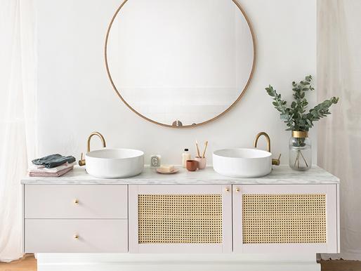 Shopping list : Comment créer un meuble de salle de bain en cannage ?