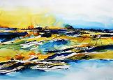 Horizonte 2, 70x100 cm, Blatt, mixed med