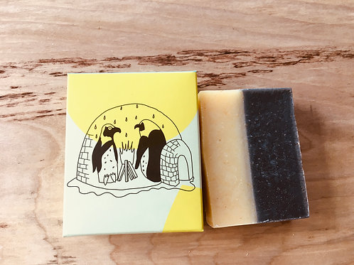Tea tree charcoal face soap