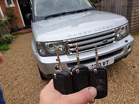 range rover transponder key