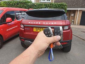 Evoque car keys