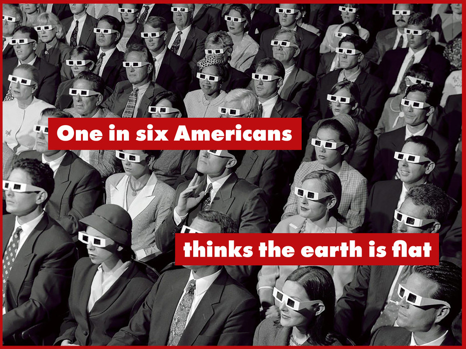 ONE IN SIX AMERICANS THINK