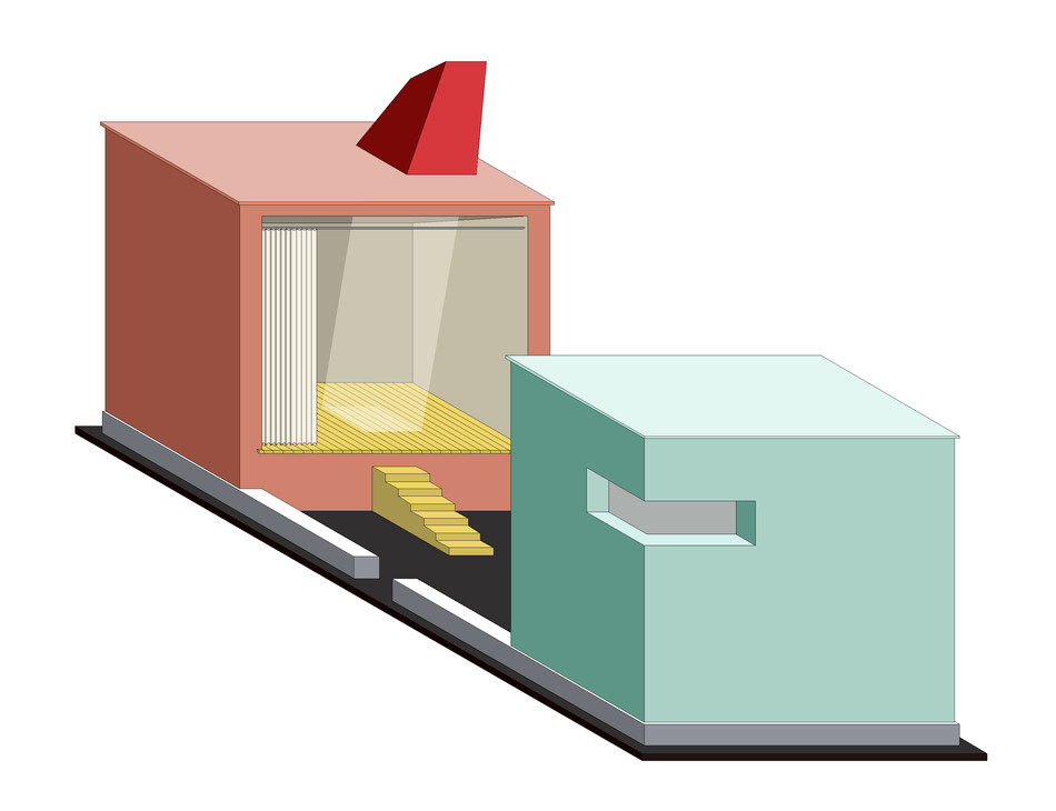 16-03 MOBILE STAGE dimetric view