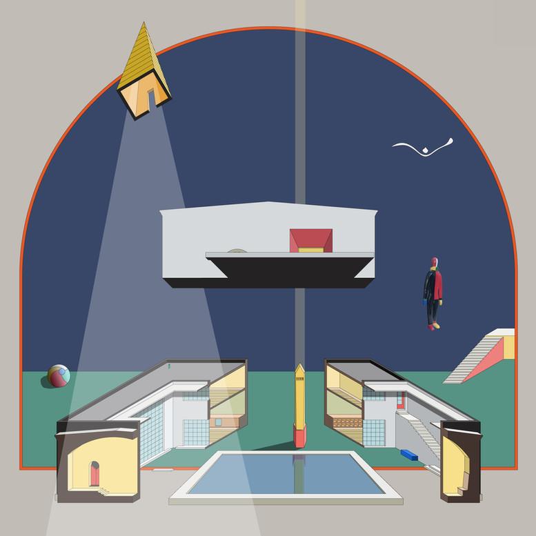 HOME 17-021 HOME SWEET HOME dimetric view