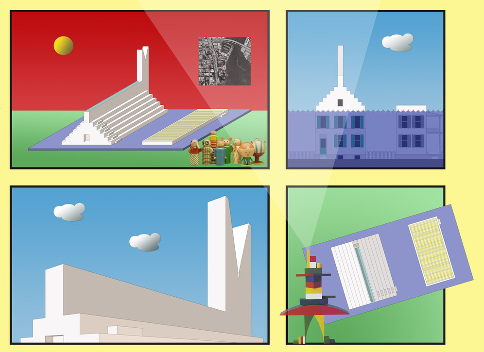 17-30 SEA LEVEL RISE MONUMNET homage to Chris Ware