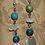 Thumbnail: Abalone, Turquoise, and Quartz Earrings
