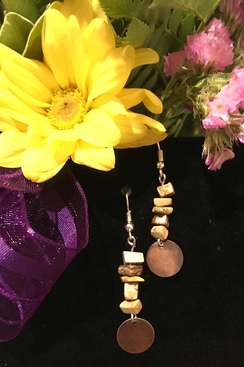 Jasper & Copper Earrings
