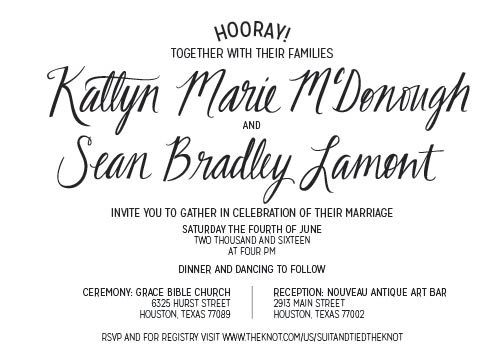 Katie & Sean's Invite
