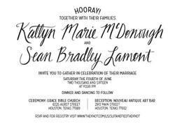 Katie & Sean's Invite