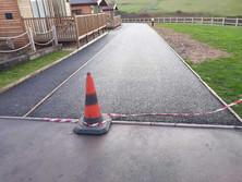 Resin footpath