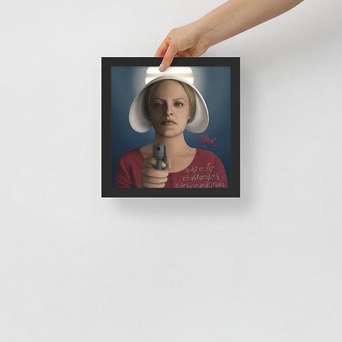 Framed poster - June Osborne Handmaid's Tale