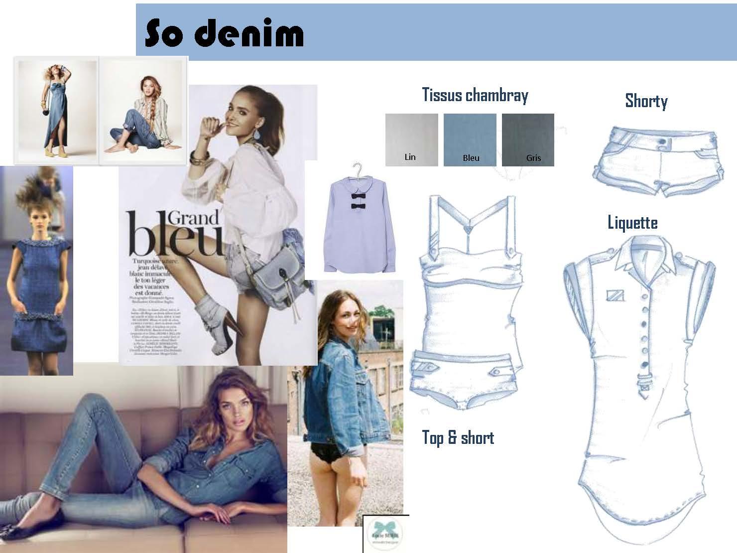 Denim nightwear by le studio de luce