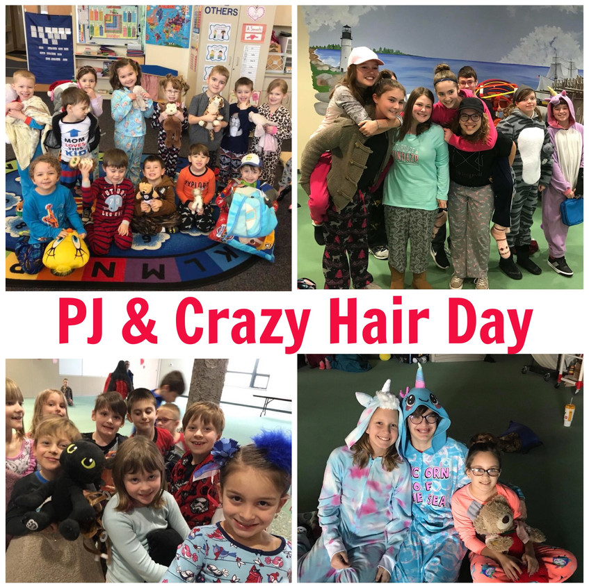 Feb 13 PJ and Crazy Hair Day