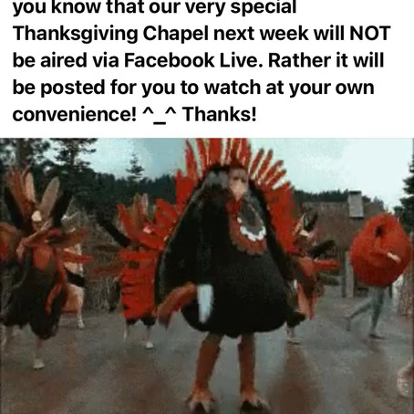 Thanksgiving Chapel Update