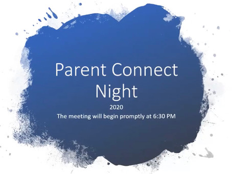 Parent Meeting Tonight