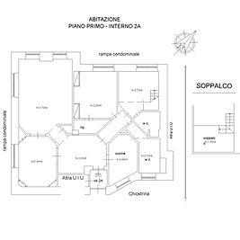 parioli appartamento planimetria
