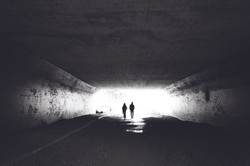 The dark underpath before