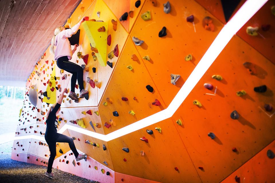 illuminating climbingwall