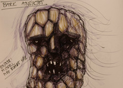 """The bark face""sketch"
