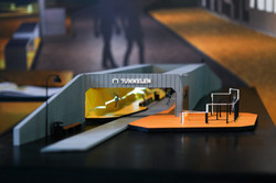 Physical model on exhibition at AHO