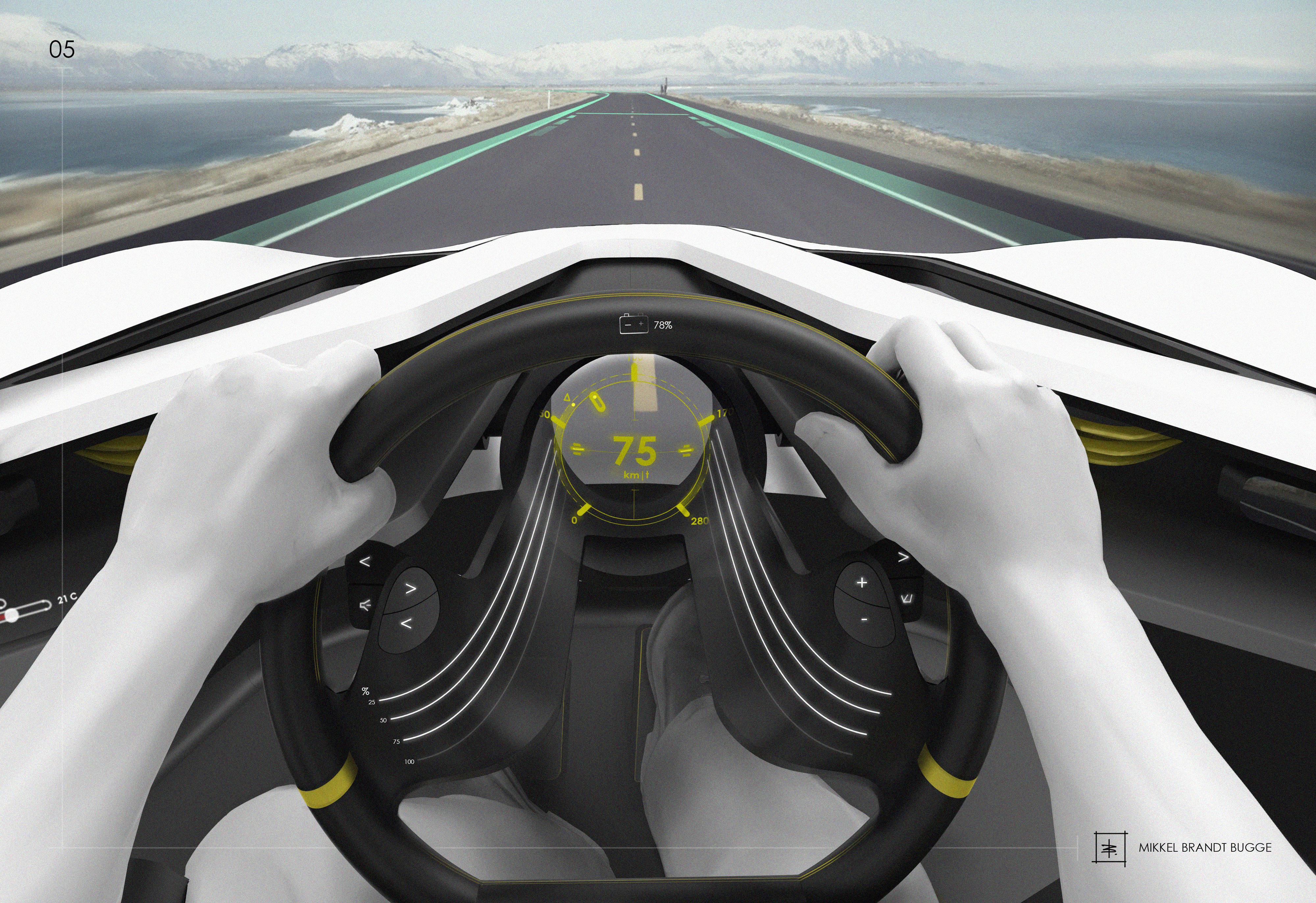 Saab interior by Mikkel Brandt bugge