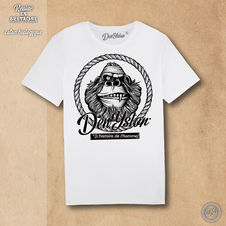 monkey DY - tshirt blanc
