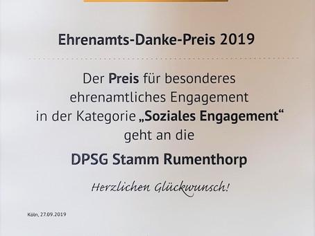 Ehrenamtspreis des BDKJ - Rumenthorp hat gewonnen!