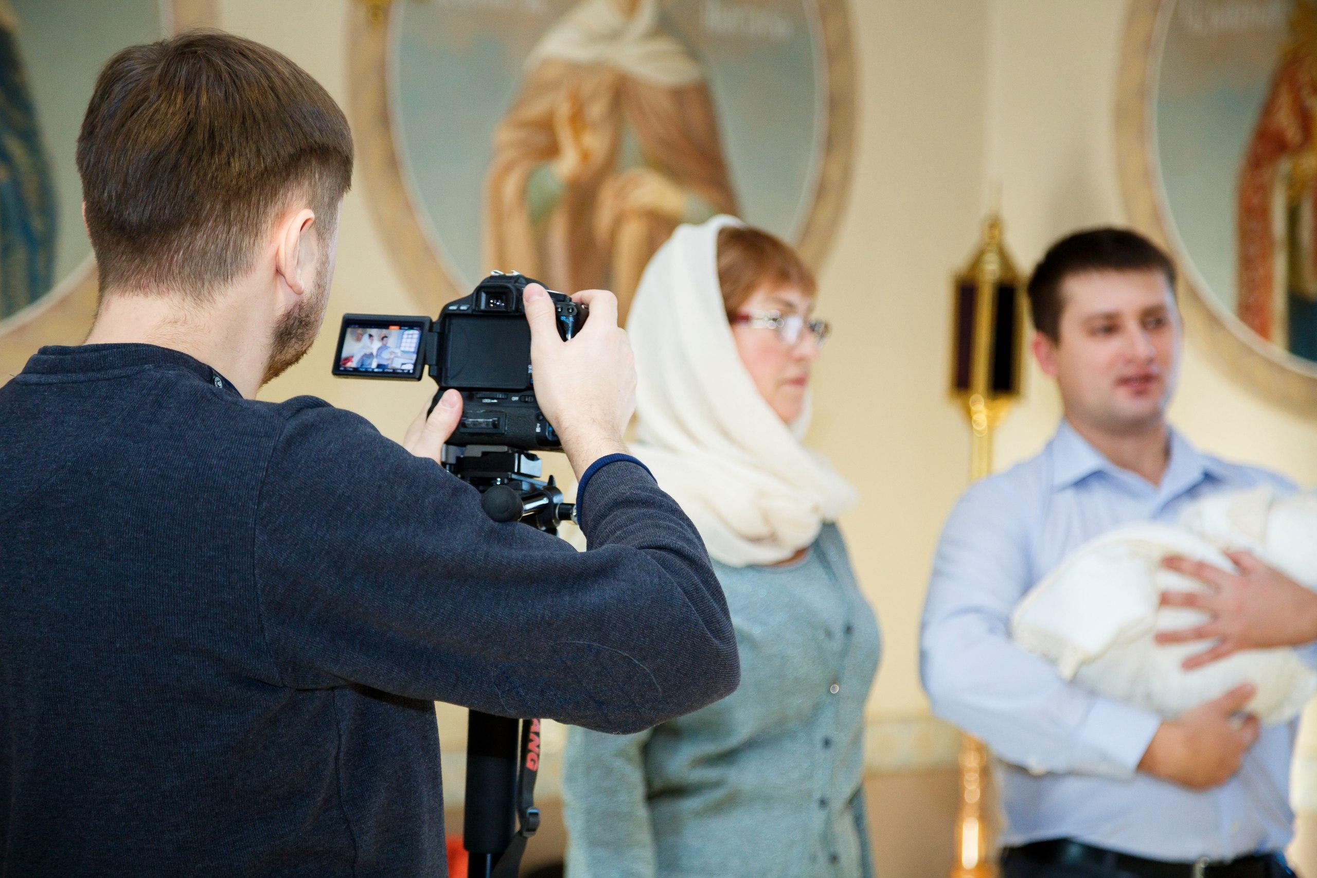 Видеосъемка крестин в Воронеже