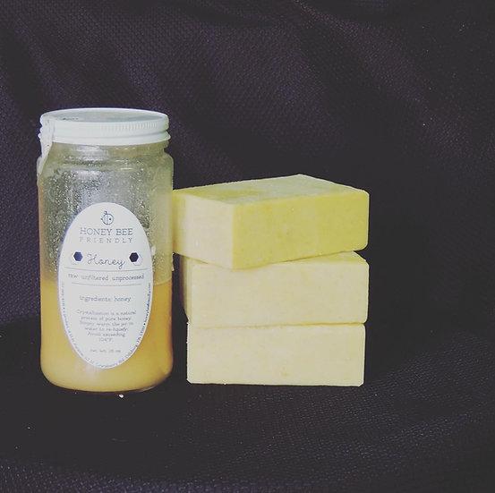Honey and goat milk soap
