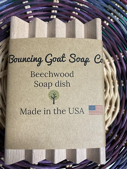 Beechwood soap dish
