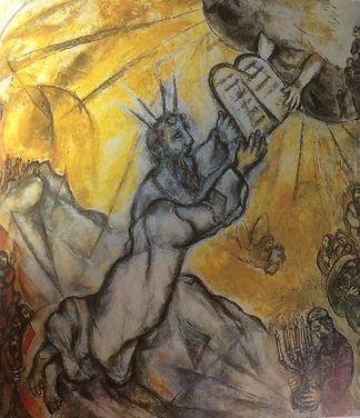 Chagall %22Moïse recevant les tables de