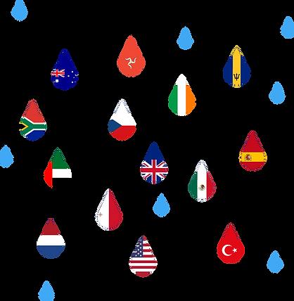 Flag Raindrops