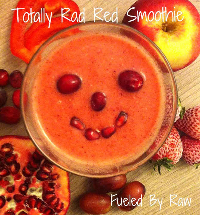 """""""Kid Approved"""" Totally Rad Red Smoothie"""