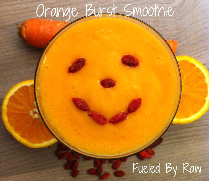 """Kid Approved"" Orange Burst Smoothie"