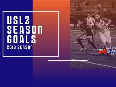 USL2 2019 Season Goals