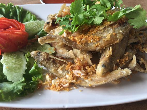 08 ปลาเนื้ออ่อนทอดกระเทียม