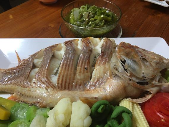 06 ปลานึ่งกับน้ำพริกหนุ่ม