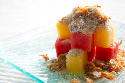 Watermelon with Crispy Dry Fish Flakes