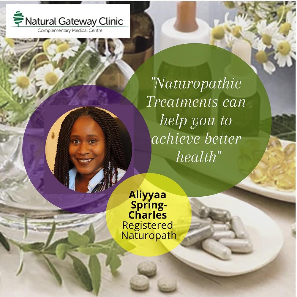 Aliyyaa Spring-Charles, Naturopath, Alternativ Medicine, Natural Gateway Clinic, Borehamwood