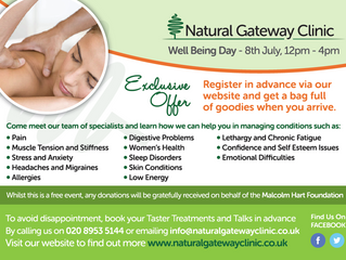 SAVE THE DATE FOR WELL BEING DAY Sunday, 8th July 12pm - 4pm