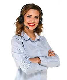 gorgeous-woman-in-headphones-using-micro
