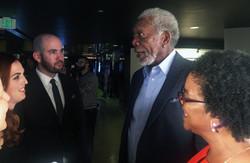 Morgan Freeman and Deena Adair