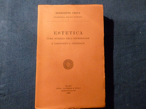 B. Croce - Estetica - Vol. 1 - 1965