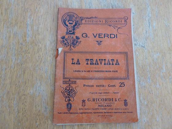 G. Verdi - La Traviata - 1906